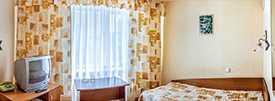 Проживание в одноместном однокомнатном номере повышенной комфортности Гостиницы Сож
