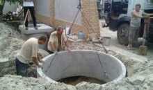 Монтаж канализационных колец