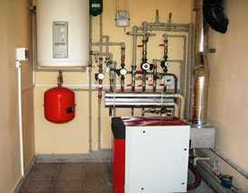 Установка газовых и твёрдотопливных котлов