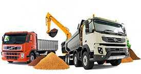 Услуги по перевозке строительных и сыпучих материалов