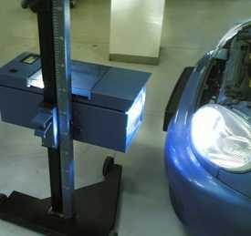 Регулировка света фар легкового автомобиля