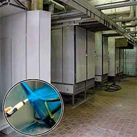 Услуги по окраске металлоизделий с использованием порошковых полимерных покрытий.