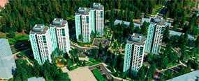 Услуга по организации долевого строительства в жилом комплексе 'Лесной городок'