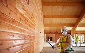 Огнезащитная обработка (огнезащита) конструкций из дерева