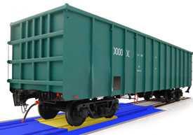 Взвешивание грузов на весах железной дороги
