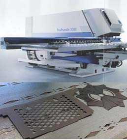Холоднолистовая штамповка на координатно-пробивном комплексе с ЧПУ TruPunch3000 фирмы TRUMPF (Германия)