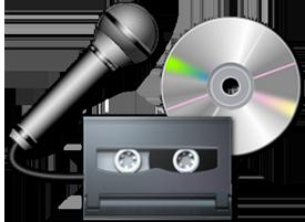 Перевод с видео и аудионосителей с наложением звука