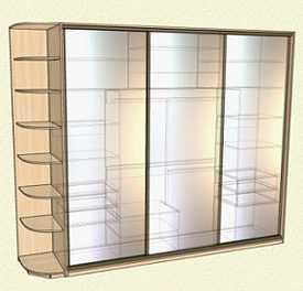 Изготовление шкафов-купе по индивидуальному проекту