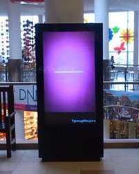Размещении рекламы на видеоконструкциях в торговых центрах