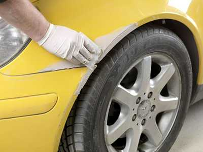 Шпатлевание, грунтование автомобиля