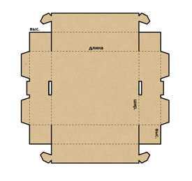 Разработка кроя и конструкции картонных коробок