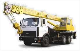 Аренда крана стрелового МАЗ КС 55727-7 Машека 25 тонн
