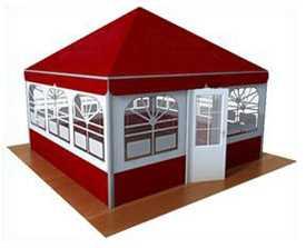 Изготовление шатров для летних кафе, свадеб и других мероприятий