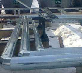 Изоляция листовым металлом трубопроводов