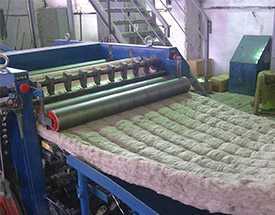 Изготовление минераловатных прошивных матов