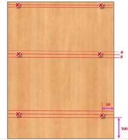 Разметка и сверление деталей мебели