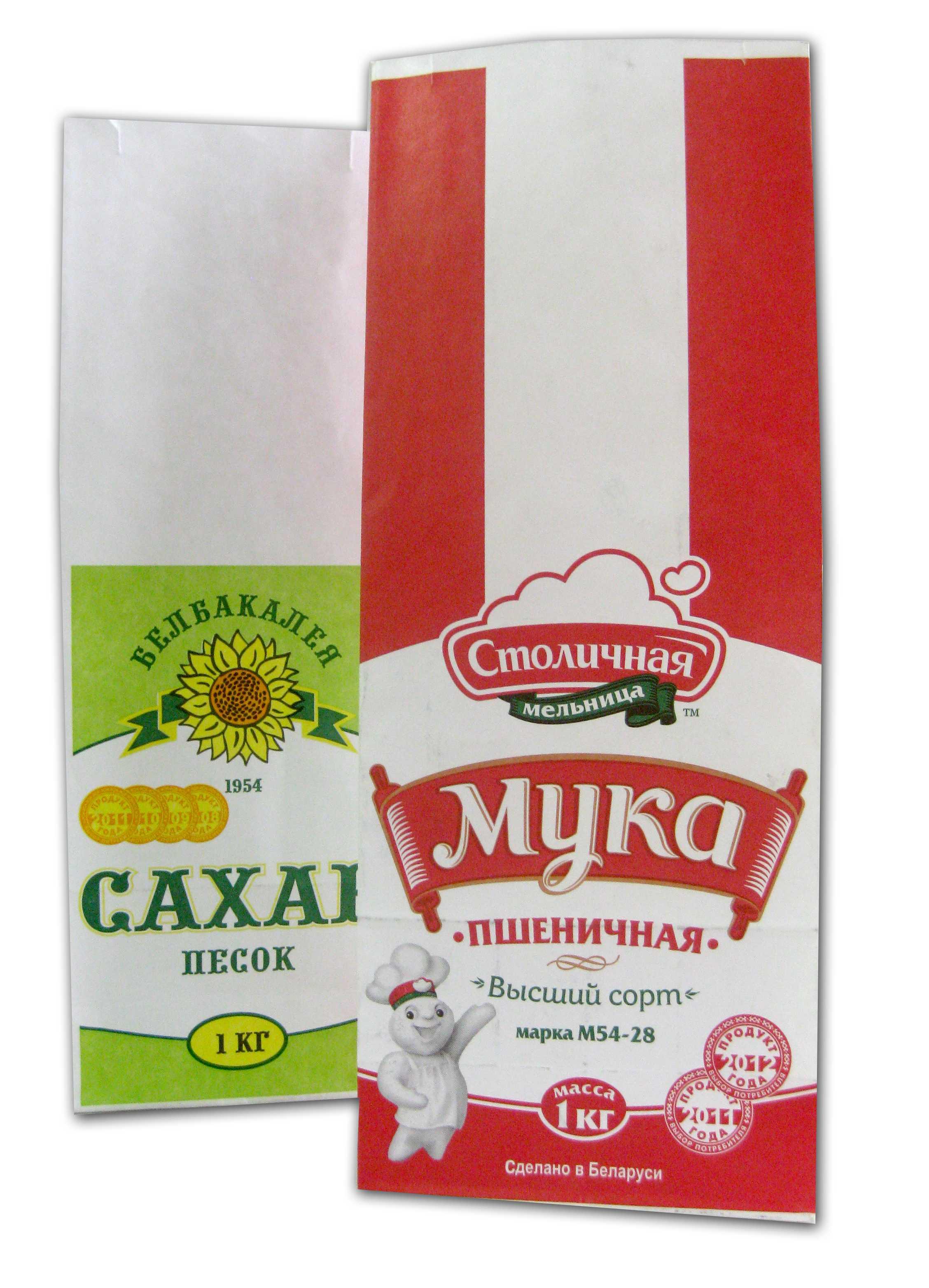 Изготовление бумажных пакетов с квадратным дном для 0,5 и 1 кг для сыпучих продуктов
