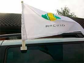 Изготовление автомобильные флагов