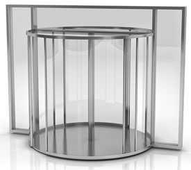 Установка автоматических круглых (полукруглых) дверей