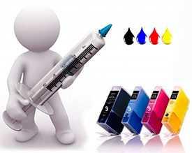 Заправка цветных матричных картриджей