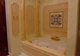 Внутренняя облицовка стен мрамором