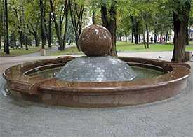 Изготовление фонтанов из гранита