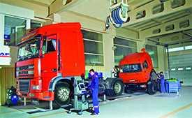 Обслуживание автомобильных транспортных средств, предназначенных для перевозки опасных грузов