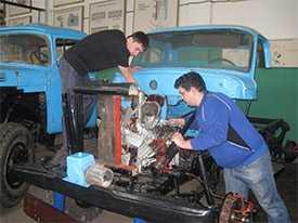 Ремонт автомобильных транспортных средств, предназначенных для перевозки опасных грузов