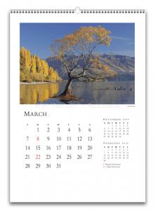 Печать календаря настенного А3 формата, изготовление календаря настенного А3 формата