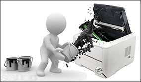 Заправка лазерного черного картриджа HP (до 2500 копий)
