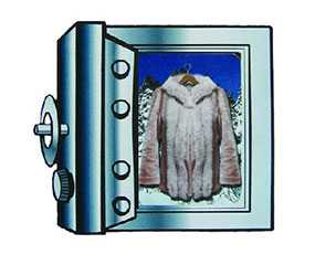 Хранение изделий из меха (шуб)