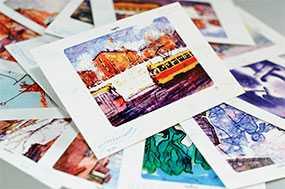 Печать открыток, изготовление открыток