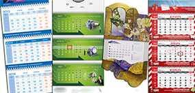 Печать календарей квартальных, изготовление календарей квартальных