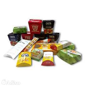 Изготовление картонной упаковки для пищевых продуктов