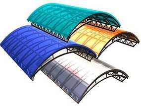Изготовление навесов из поликарбоната