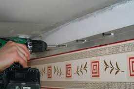 Монтаж профиля для натяжных потолков