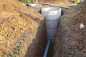 Копка и/или засыпка траншеи для укладки трубопровода водоснабжения частных домов от центрального водопровода