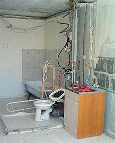 Демонтаж вентиляционного короба (санузлы)