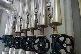 Монтаж трубопроводов пара