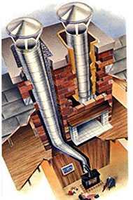 Монтаж стальных дымовых труб