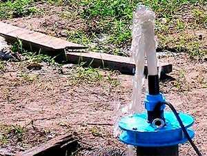 Промывка скважин на воду эрлифтом