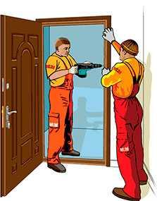 Демонтаж и установка дверей