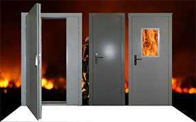 Изготовление противопожарных металлических дверей (класс огнестойкости ЕI-30)