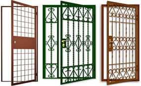 Изготовление металлических решеток на двери