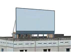 Создание и размещение рекламы на надкрышной конструкции