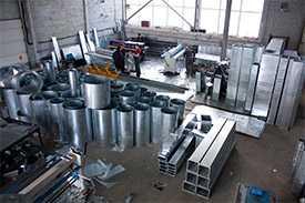 Изготовление воздуховодов для систем вентиляции