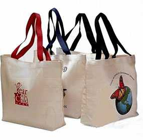 Печать логотипа на сумках