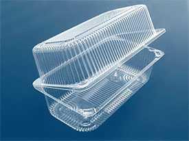 Производство пластиковых контейнеров с несъемной крышкой