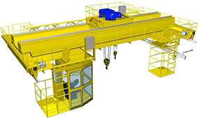Монтаж кранов мостового типа