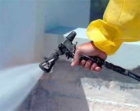 Огнезащитное покрытие металлических поверхностей методом аппаратного (безвоздушного) распыления